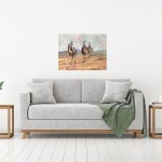 Trevor Waugh, Desert Trio, Original Oil Painting for Sale Online. Desert scene, figurative desert painting, gifts for travellers. In Situ