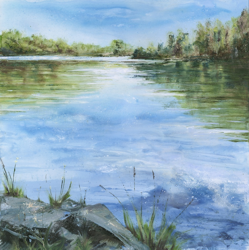 Janette George | The Bobbin Mill Pond | Original Painting