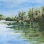 Janette George The Bobbin Mill Pond Wychwood detail 1