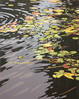 Alexandra Buck;e prints for sale with wychwood Art Lilies and ripples print