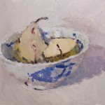 Lynne Cartlidge Pear Halves in a Chinese Bowl 1 Wychwood Art
