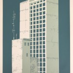 Manausblue-car park - elisa southwood - limited edition silkscreen print for sale