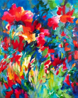 Mary Chaplin poppies in the sun  Wychwood Art