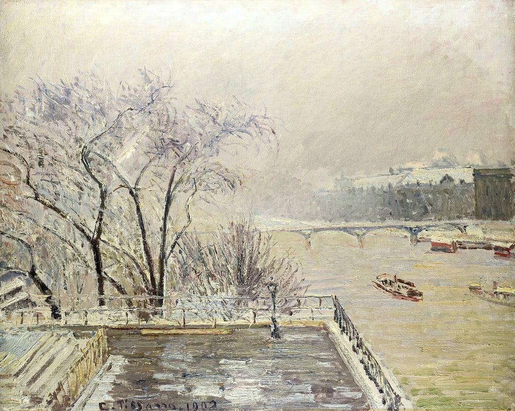 Pissarro - The Louvre Under Snow 1902