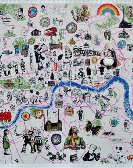 Mychael Barratt reasons to be cheerful London map for sale