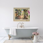 Spanish Light | Trevor Waugh | Original Contemporary Oil Painting | Impressionist Art | Colourful Art |Bathroom Art