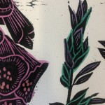 T4%Foxgloves | Kate Heiss | Limited Edition Linocut Print  Flower Art | Natural Art | Floral Interiors | Gifts for Women | Housewarming Gifts