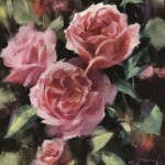 Trevor Waugh | Deep Pink | Roses | Original Oil Painting | Contemporary Floral Still Life Painting | Flower Art | Flower Study | Roses | Full