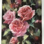 Trevor Waugh | Deep Pink | Roses | Original Oil Painting | Contemporary Floral Still Life Painting | Flower Art | Flower Study | Roses | Full On