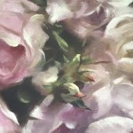 Trevor Waugh | Pink Peonies | Contemporary Oil Painting | Original Still Life Art | Flower Painting | Floral Art | Floral Interiors | Close Up 2