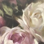 Trevor Waugh | Pink Peonies | Contemporary Oil Painting | Original Still Life Art | Flower Painting | Floral Art | Floral Interiors | Close Up 8