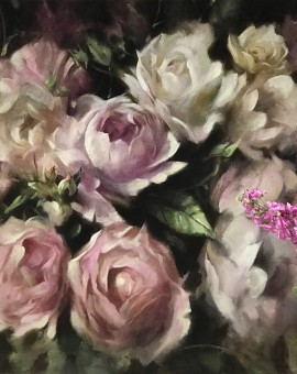 Trevor Waugh | Pink Peonies | Contemporary Oil Painting | Original Still Life Art | Flower Painting | Floral Art | Floral Interiors | Full