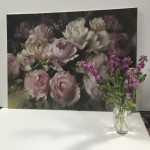 Trevor Waugh | Pink Peonies | Contemporary Oil Painting | Original Still Life Art | Flower Painting | Floral Art | Floral Interiors | Scale