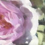 Trevor Waugh | Pink Roses at Kew | Original Oil Painting of Flowers | Flower Art | Floral Interiors | Gift Art | Flower Scenes | Rose paintings | Detail 4