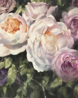 Trevor Waugh | Rose Bouquets | Contemporary Framed Still Life Painting | Oil Painting | Roses | Rose Painting | Contemporary Art | Full 2