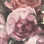 Trevor Waugh | Studio Roses | Original Oil Painting | Still Life Painting | Original Contemporary Art | Fine Art for Sale | Close Up
