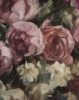 Trevor Waugh | Studio Roses | Original Oil Painting | Still Life Painting | Original Contemporary Art | Fine Art for Sale | Full