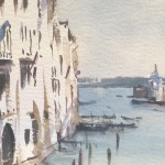 Trevor Waugh | The Grand Canal Venice | Original Watercolour Painting | Cityscape | Venetian Art | Gifts for Travellers | Travel Art | Close Up 2