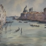 Trevor Waugh | The Grand Canal Venice | Original Watercolour Painting | Cityscape | Venetian Art | Gifts for Travellers | Travel Art | Full