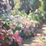 Trevor Waugh | The Long Garden | Original Contemporary Oil Painting | Affordable Art| Close Up 2