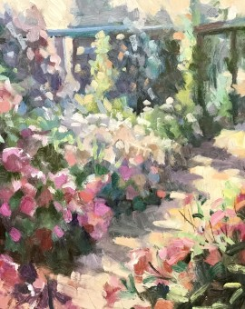 Trevor Waugh | The Long Garden | Original Contemporary Oil Painting | Affordable Art| Close Up
