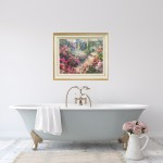Trevor Waugh | The Long Garden | Original Impressionist Art For Sale | Contemporary Oil Painting | Colourful Art | In Situ | Art For the Bathroom