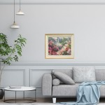 Trevor Waugh | The Long Garden | Original Impressionist Art For Sale | Contemporary Oil Painting | Colourful Art | In Situ | Art For the Living Room