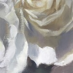Trevor Waugh | The White Ones | Original Oil Painting | Floral Still Life Painting | White Roses | Contemporary Art | Floral Interiors | Flower Art | Close Up