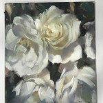 Trevor Waugh | The White Ones | Original Oil Painting | Floral Still Life Painting | White Roses | Contemporary Art | Floral Interiors | Flower Art | Full On]