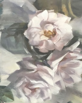 Trevor Waugh | Victorian Roses | Original Oil Painting | Contemporary Still Life | Flower Art | Floral Painting | Full