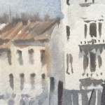 Trevor Waugh | Waiting Gondolas Venice | Original Watercolour Painting | Location Art | Travel Painting | Contemporary Art | Art for Sale Online | Close Up 3