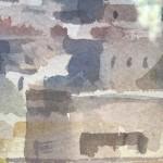 Trevor Waugh | Walls of Marrakech | Original Framed Watercolour Painting | Travel Art | Painting of Marrakech | Gifts for Travellers | Original Contemporary Art | Impressionist Art | Close Up 2