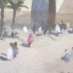 Trevor Waugh | Walls of Marrakech | Original Framed Watercolour Painting | Travel Art | Painting of Marrakech | Gifts for Travellers | Original Contemporary Art | Impressionist Art | Close Up