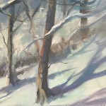 Trevor Waugh | Winter Trees | Original Oil Painting | Winter Scene | Snow Art | Winter Landscape Painting | CLose Up