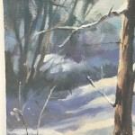 Trevor Waugh | Winter Trees | Original Oil Painting | Winter Scene | Snow Art | Winter Landscape Painting | Close Up 3