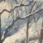 Trevor Waugh | Winter Trees | Original Oil Painting | Winter Scene | Snow Art | Winter Landscape Painting | Close Up 4