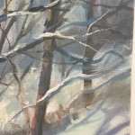 Trevor Waugh | Winter Trees | Original Oil Painting | Winter Scene | Snow Art | Winter Landscape Painting | Close Up 5