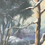 Trevor Waugh | Winter Trees | Original Oil Painting | Winter Scene | Snow Art | Winter Landscape Painting | Close Up 6