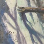 Trevor Waugh | Winter Trees | Original Oil Painting | Winter Scene | Snow Art | Winter Landscape Painting | Close up 2
