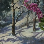 Trevor Waugh | Winter Trees | Original Oil Painting | Winter Scene | Snow Art | Winter Landscape Painting | Full