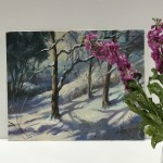Trevor Waugh | Winter Trees | Original Oil Painting | Winter Scene | Snow Art | Winter Landscape Painting | Scale