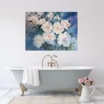 Trevor Waugh swan lake original contemporary flower painting for sale online. Affordable Art online | Bathroom Art