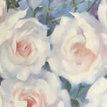 Trevor Waugh swan lake original contemporary flower painting for sale online. Affordable Art online Close Up