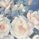 Trevor Waugh swan lake original contemporary flower painting for sale online. Affordable Art online Close Up 2
