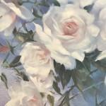 Trevor Waugh swan lake original contemporary flower painting for sale online. Affordable Art online Close Up 3