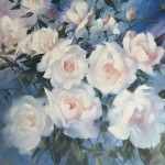 Trevor Waugh swan lake original contemporary flower painting for sale online. Affordable Art online Profile