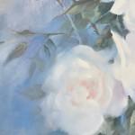 Trevor Waugh swan lake original contemporary flower painting for sale online. Affordable Art online Signature