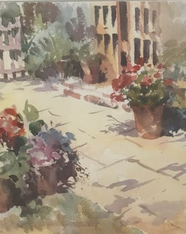 Trevour Waugh | The Old Studio | Original Framed Watercolour Painting | Gift Art | Art Presents | Summer Scenes | Flower Paintings | Contemporary Art | Floral Art