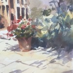 Trevour Waugh | The Old Studio | Original Framed Watercolour Painting | Gift Art | Art Presents | Summer Scenes | Flower Paintings | Contemporary Art | Floral Art | CLose Up