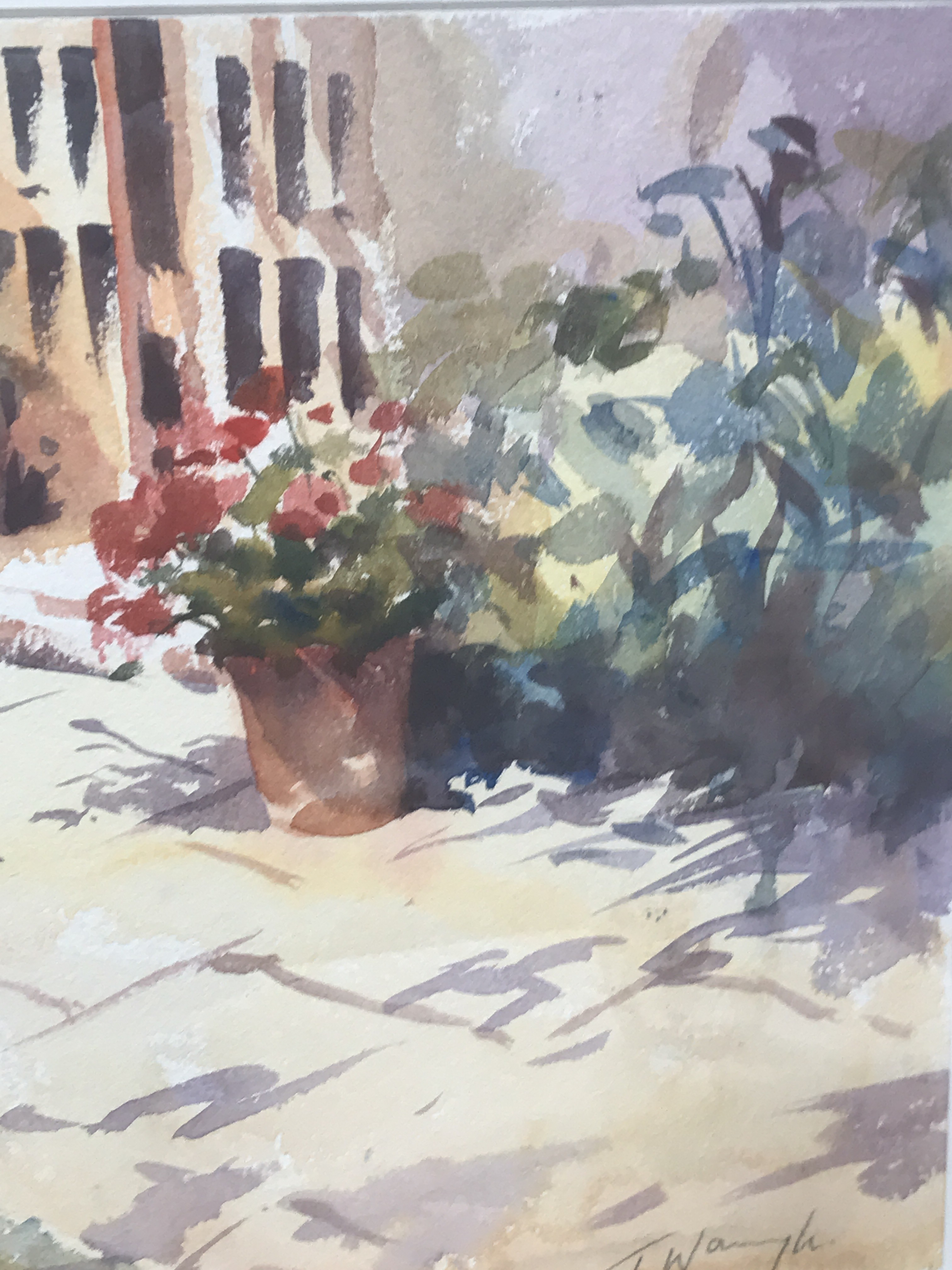 The Old Studio is an original watercolour painting by Trevor Waugh. The impressionistic style and tones of the piece give it a warm, cosy feeling.